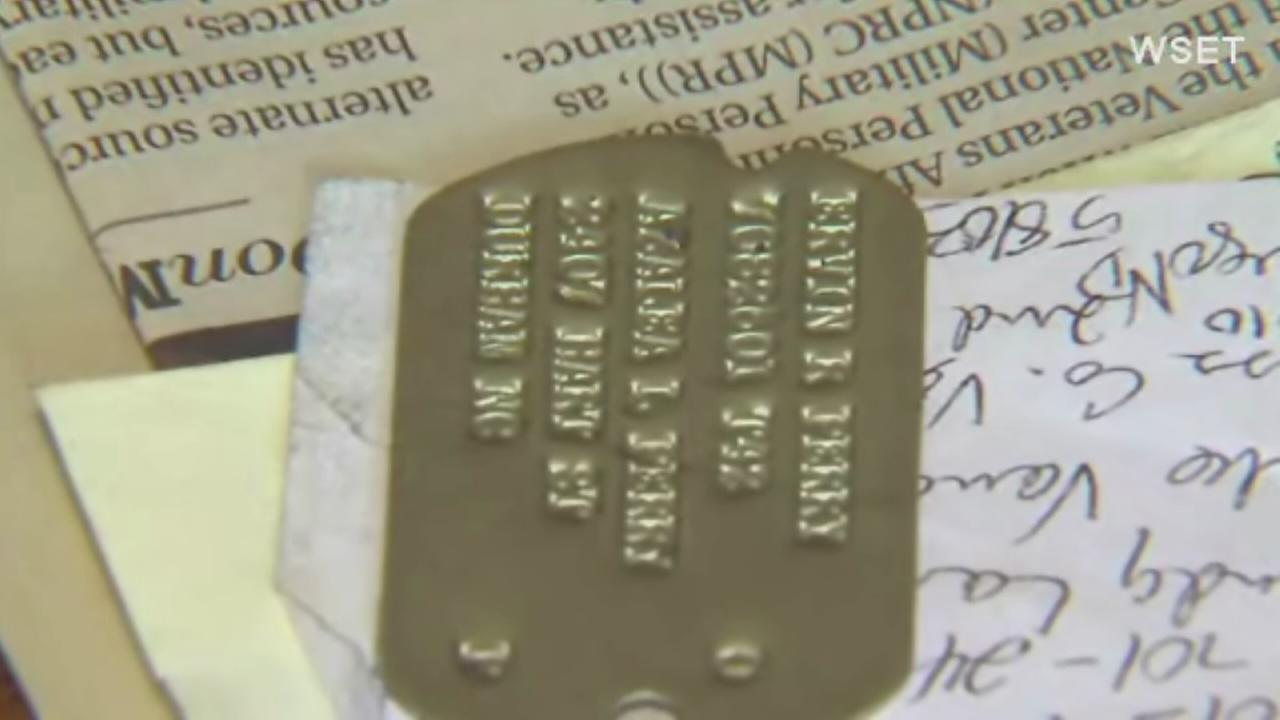 Woman wants to return WWII dog tags
