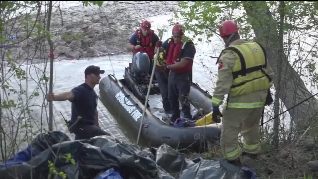 Man swept away in river after falling from horse
