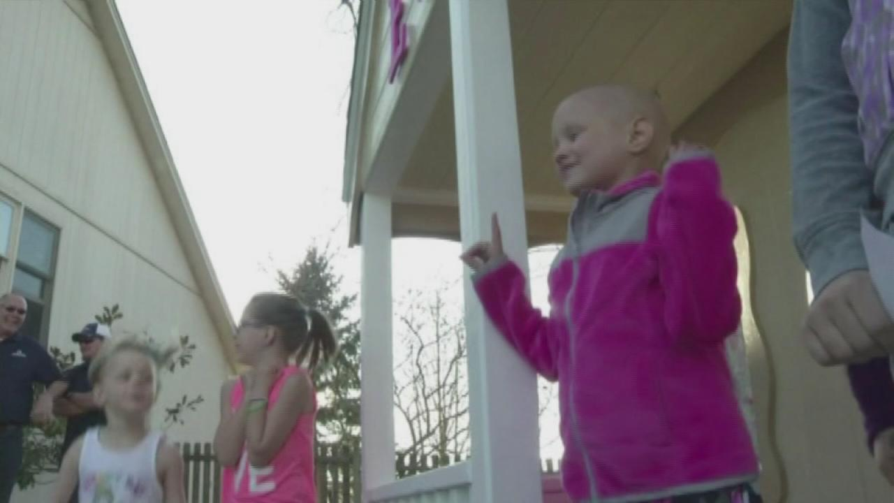 Girl with cancer granted playhouse