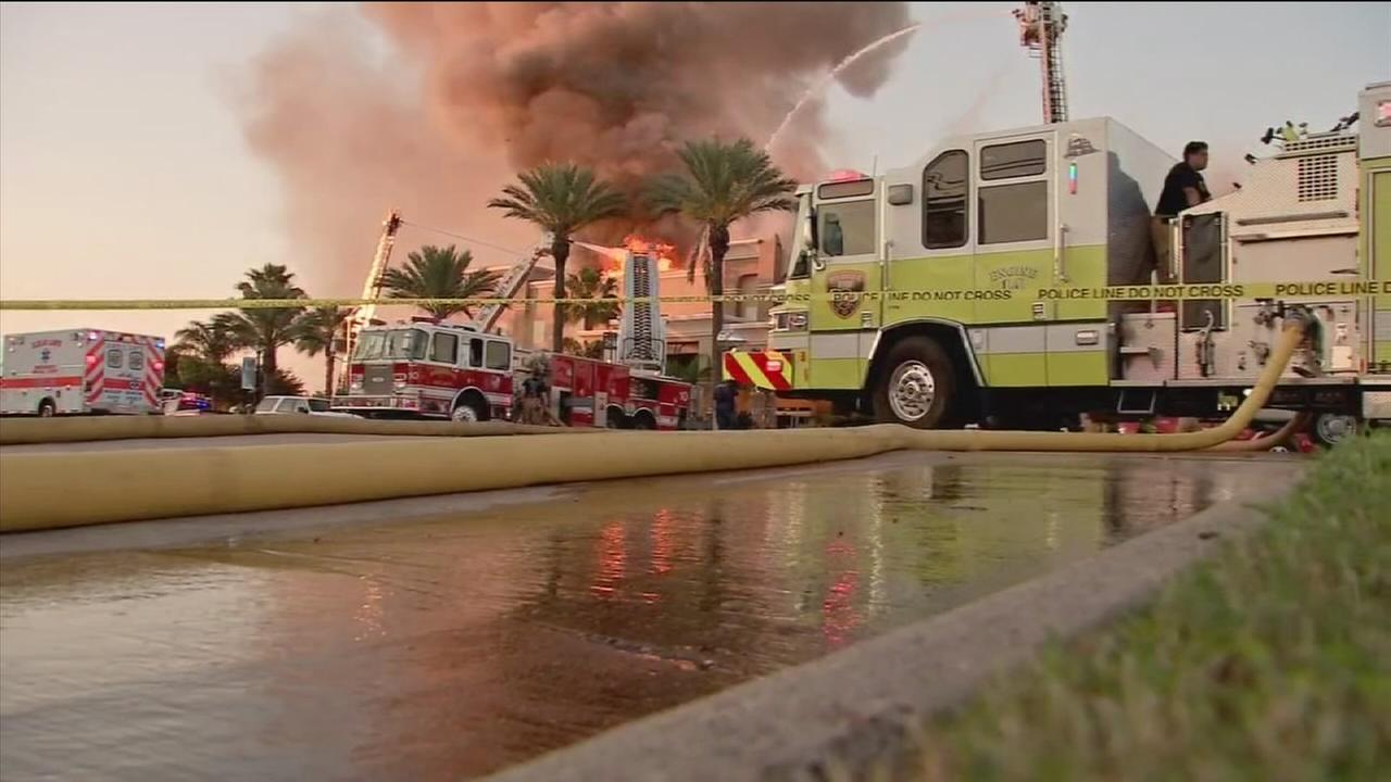 Official: Huge fire at hotel in Seabrook under control