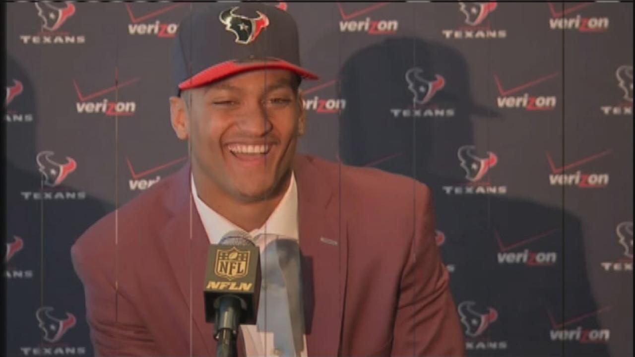 Texans top pick meets the media
