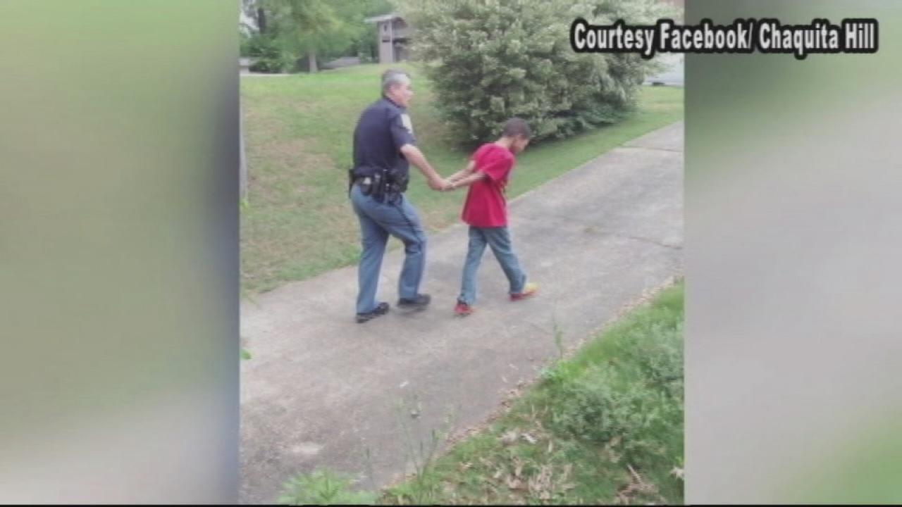 Mom stages fake arrest for sons bad behavior