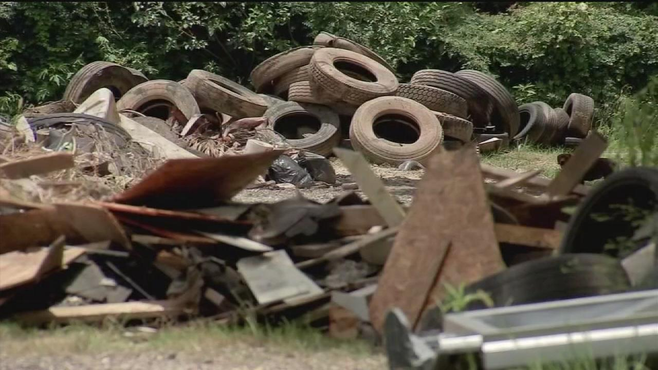 Trash illegally disposed in NE Houston has residents in the dumps