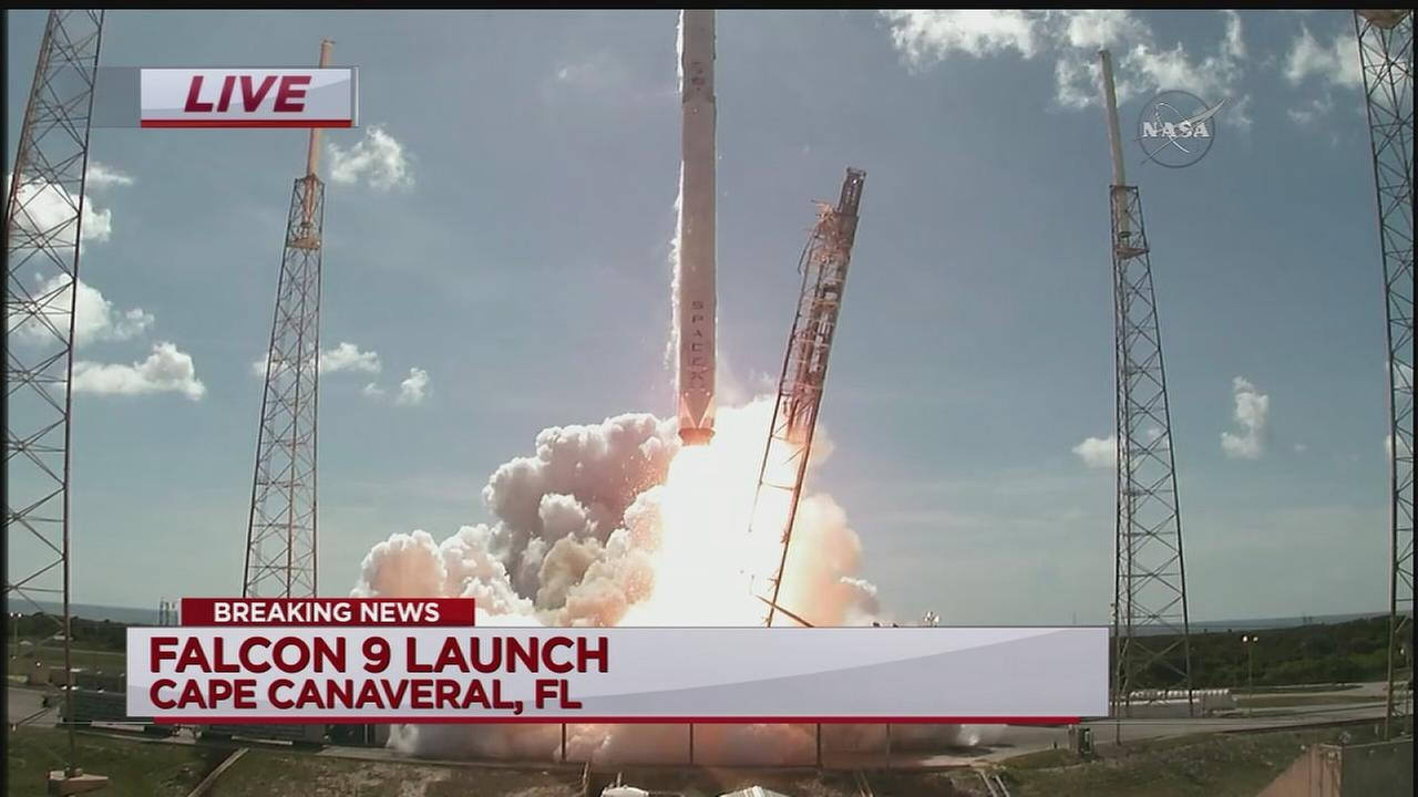 Space X Falcon 9 rocket lifts off from Cape Canaveral