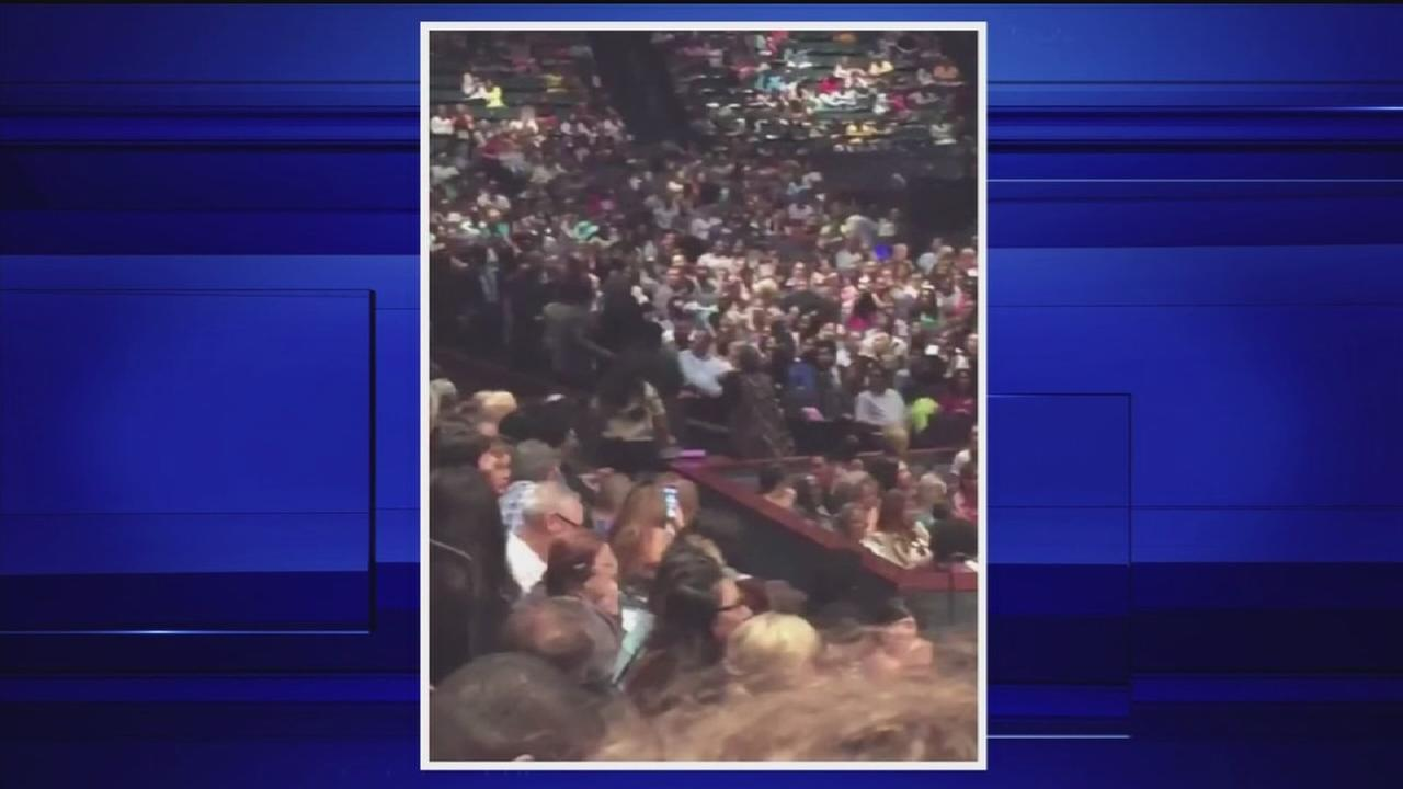 Six arrested at Lakewood Church service