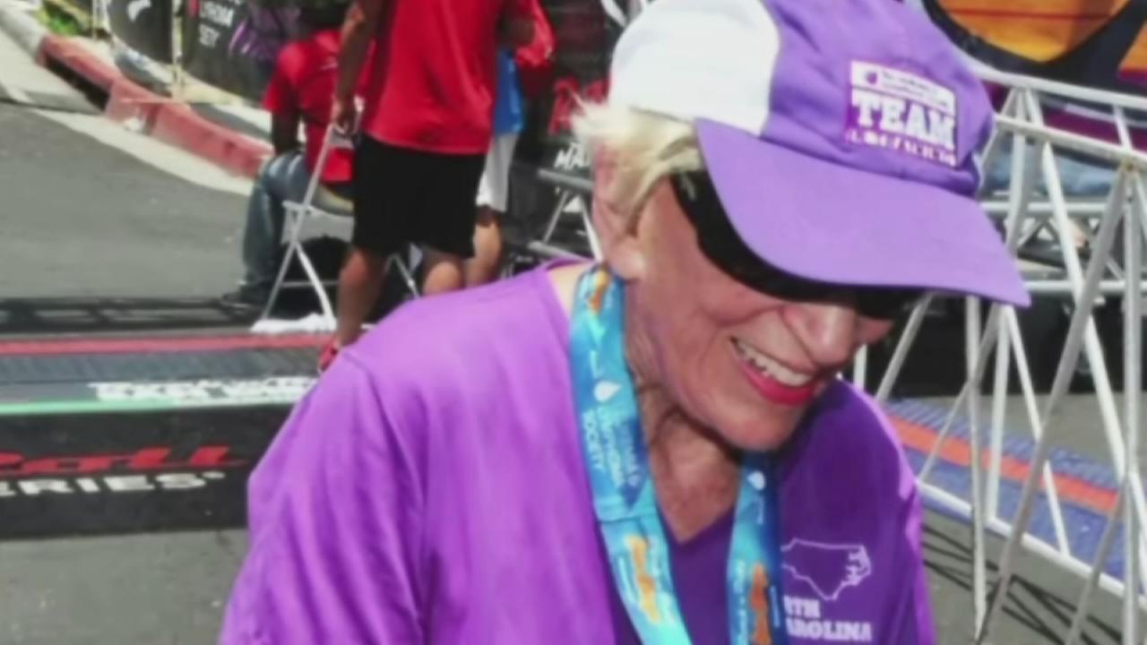 Woman, 91, sets new marathon record