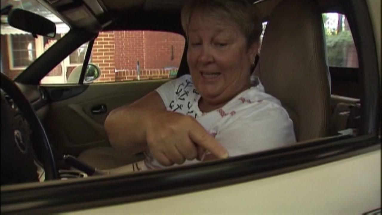Woman finds snake in car