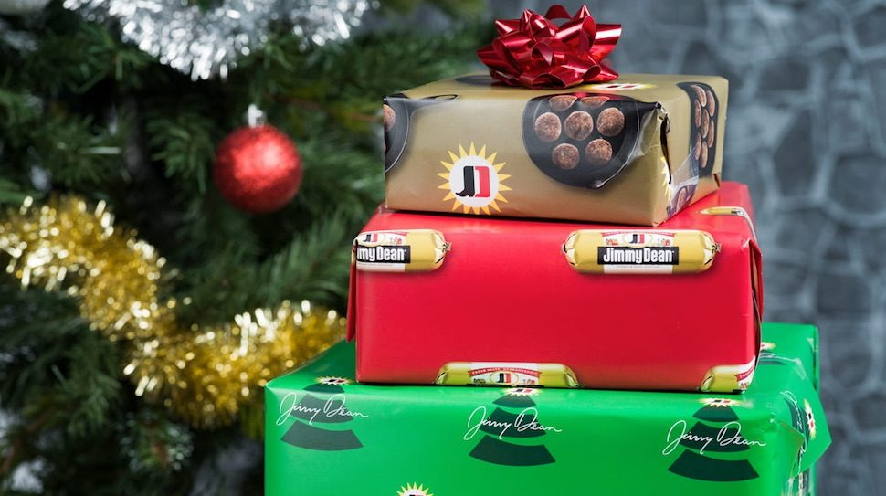 Jimmy Dean is giving away sausage-scented wrapping paper.