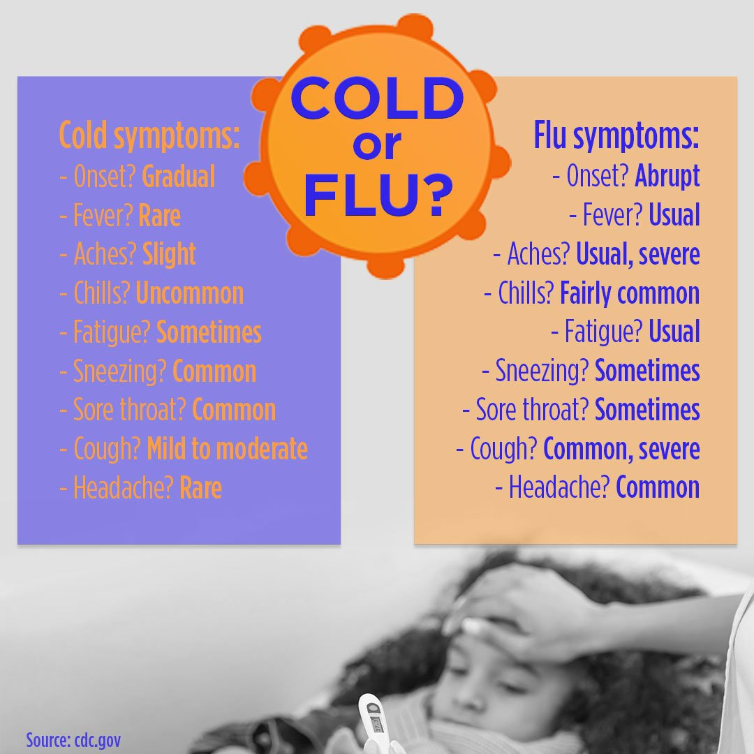 doctors say there are key differences between the cold and flu