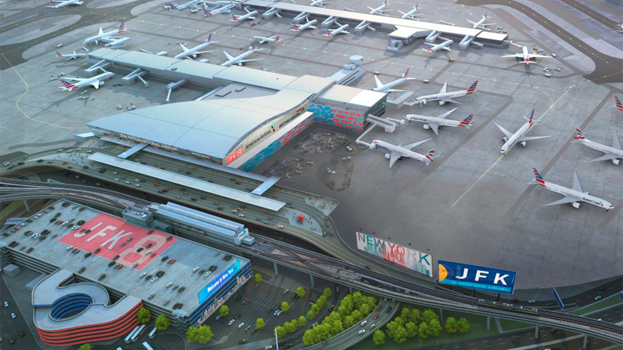 Airlines team up to invest $344 million in renovating JFK Airport's Terminal 8