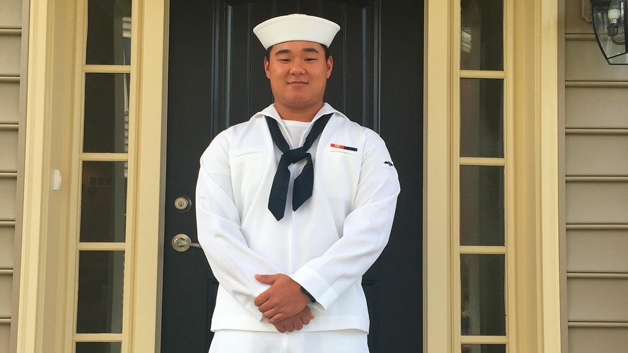 U.S. Navy Airman Apprentice Joseph Min Naglak poses in an undated photo provided by the U.S Navy on Wednesday Sept. 19, 2018.