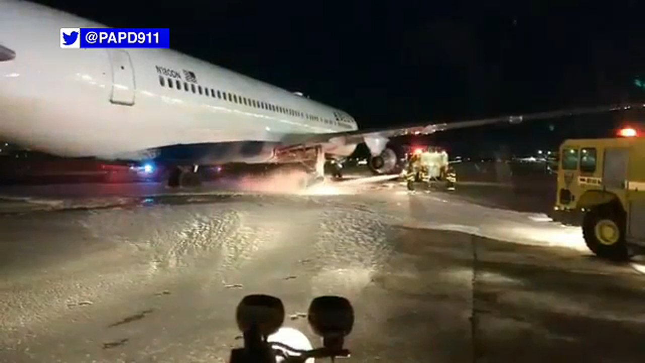 Passengers taken off Delta Air Lines flight at JFK Airport due to wheel fire