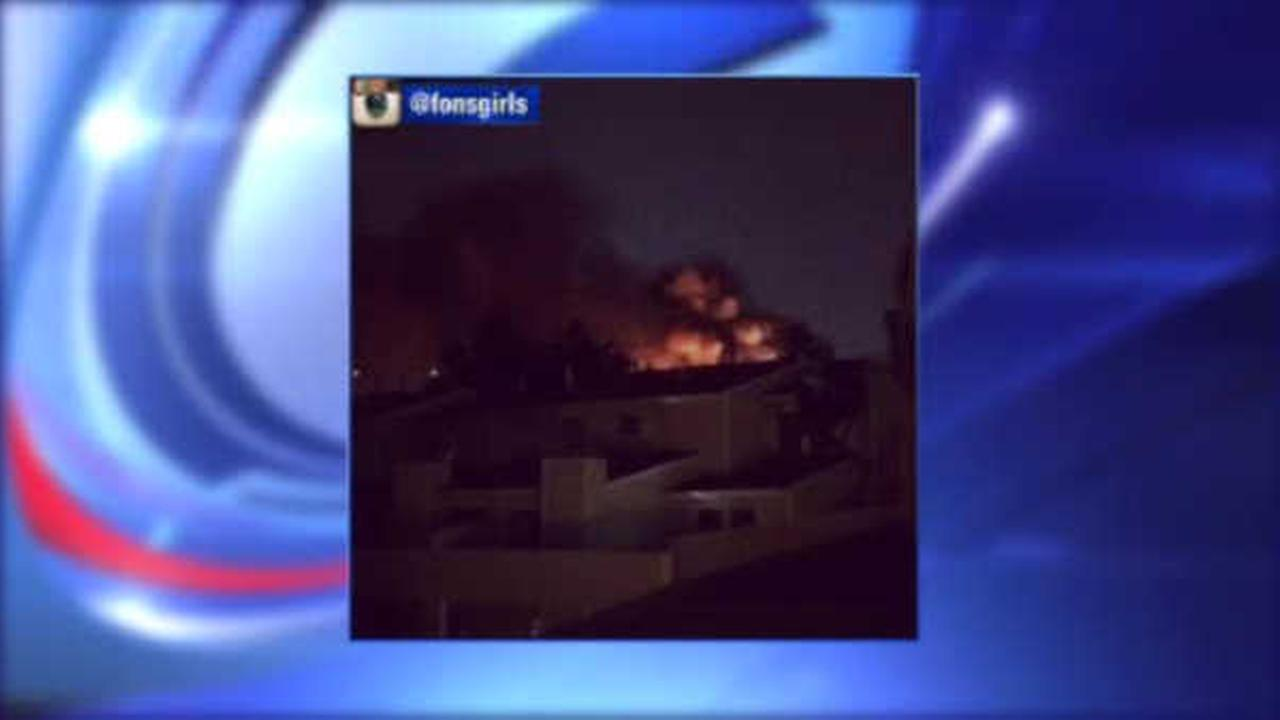 Flames break out in Secaucus apartment complex