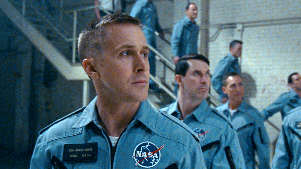 This image released by Universal Pictures shows Ryan Gosling in a scene from First Man.