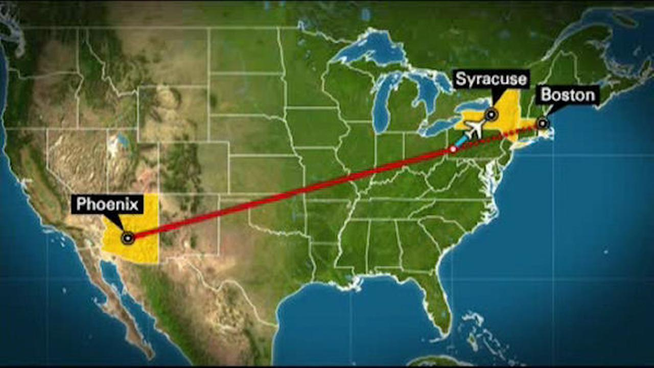 Pilot falls ill, later dies after flight from Phoenix to Boston diverted to Syracuse