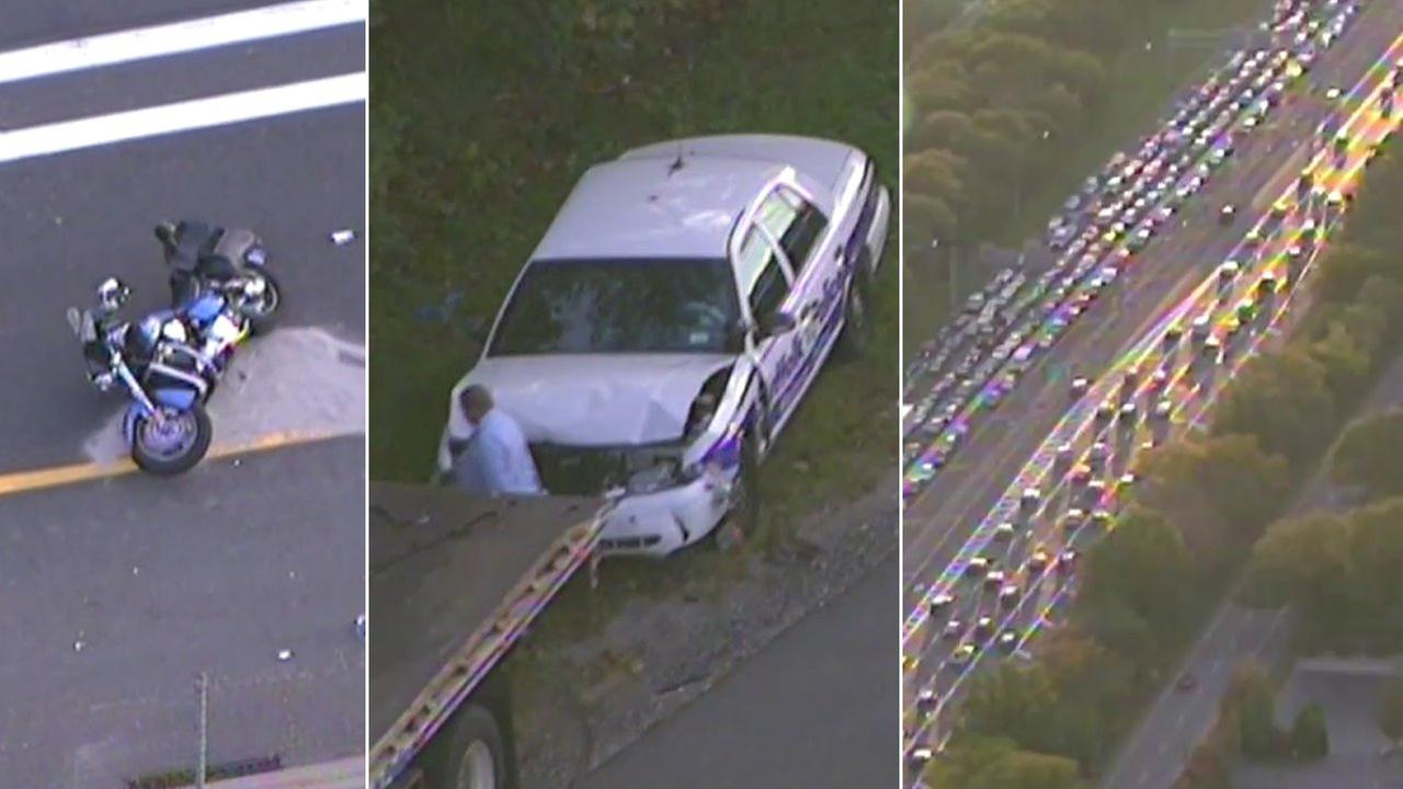 2 separate crashes snarl Long Island Expressway traffic during PM commute
