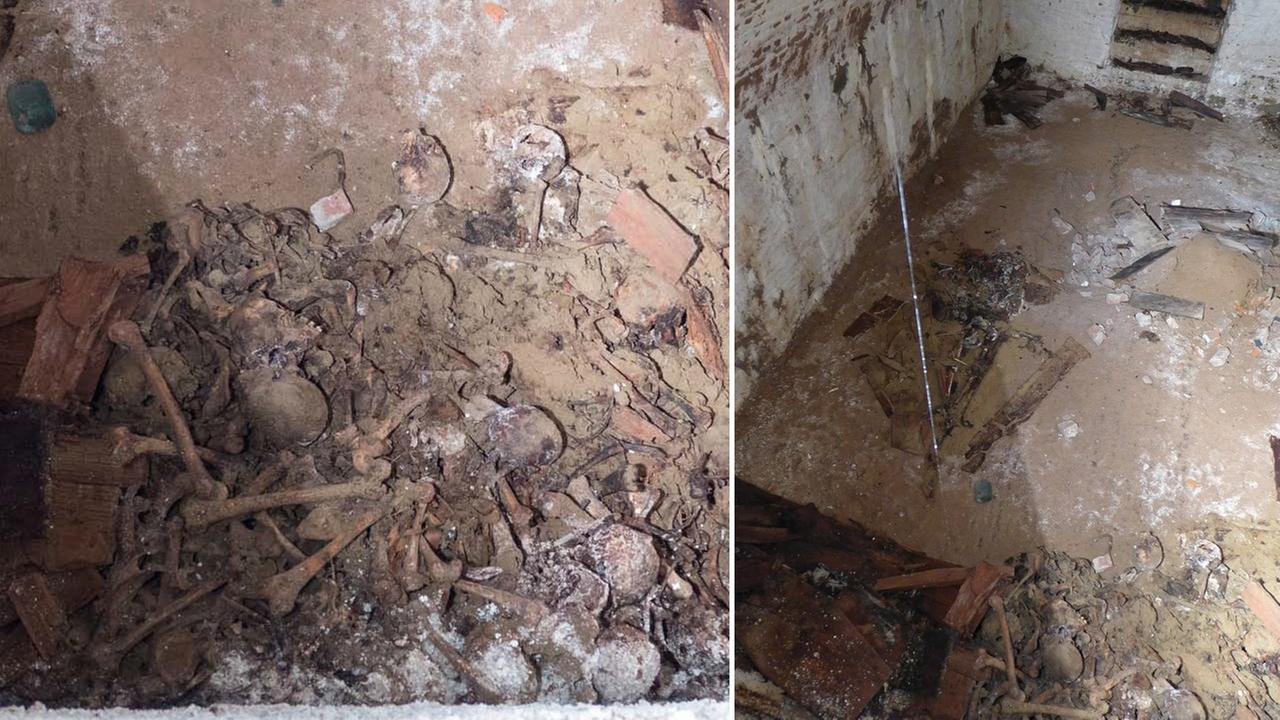 Workers upgrading old water mains under Washington Square Park in Greenwich Village discovered a 19th century burial vault containing skeletal remains.