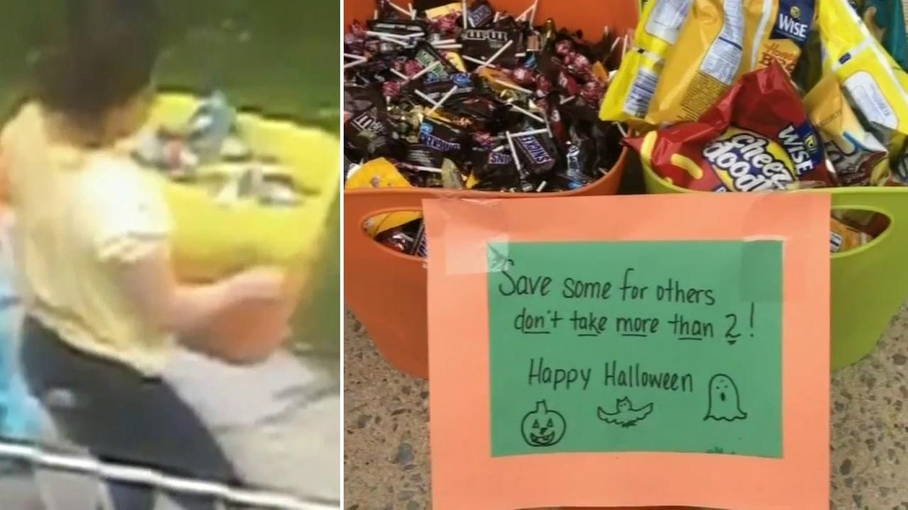 Police track down woman they say stole buckets of Halloween candy on Staten Island