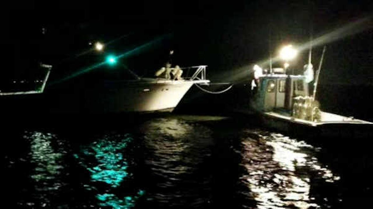 6 rescued, 1 injured when boat runs aground off Long Island's South Shore