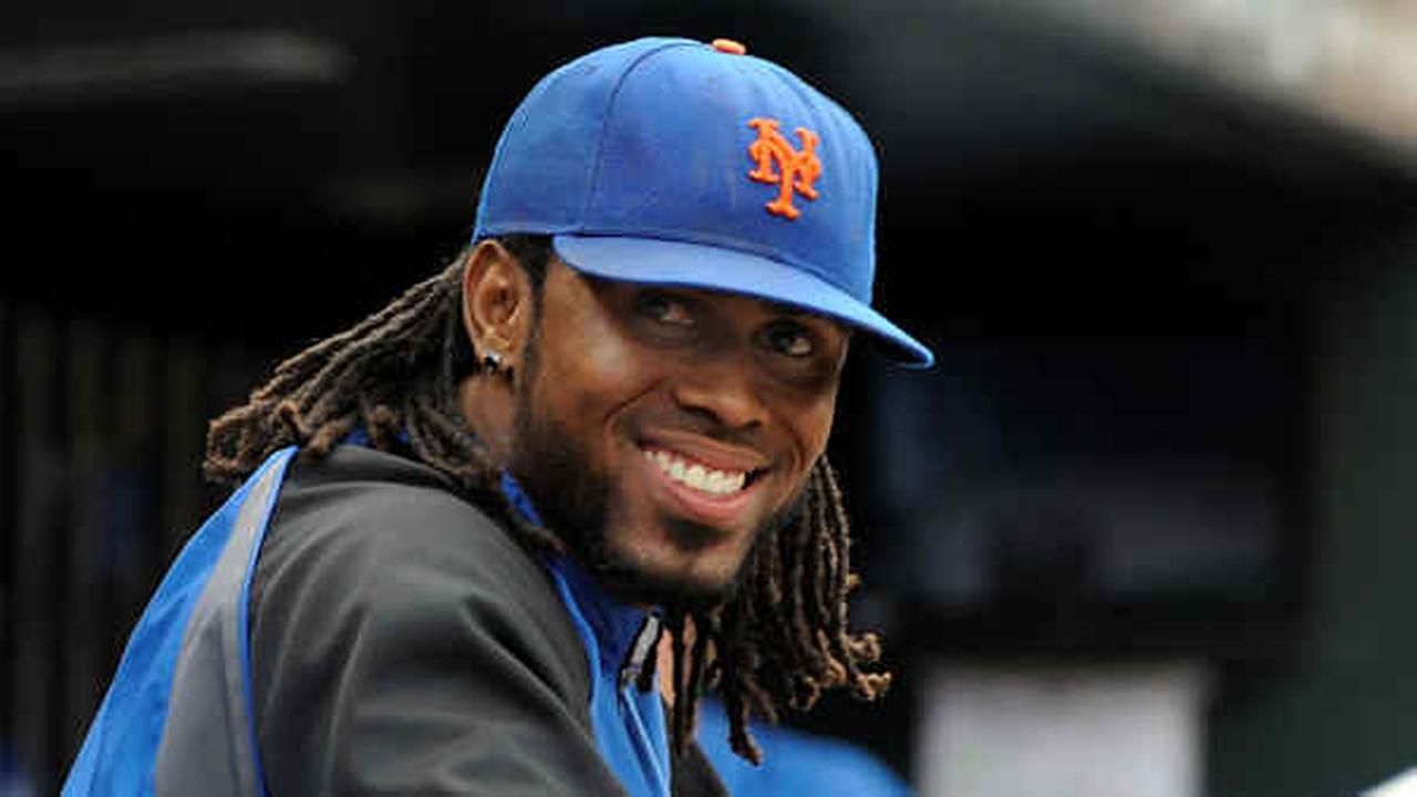 Then-Mets SS Jose Reyes smiles in the dugout in the ninth inning of a baseball game against the Cincinnati Reds on Wednesday, Sept. 28, 2011.