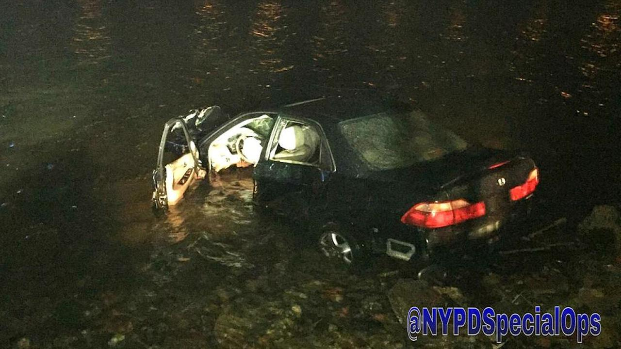 Car into water