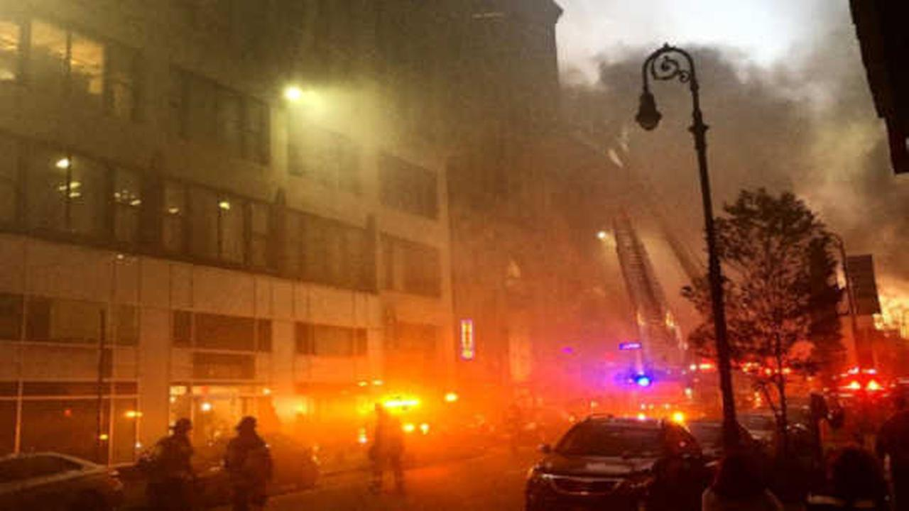 Restaurant fire causes smoky conditions near Penn Station