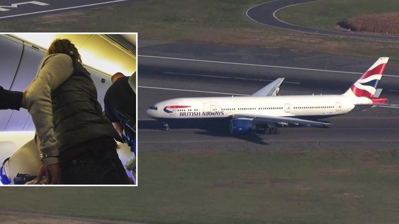 (Plane image courtesy: WCVB; Passenger image courtesy: Jim Manship / Instagram: @themanship)