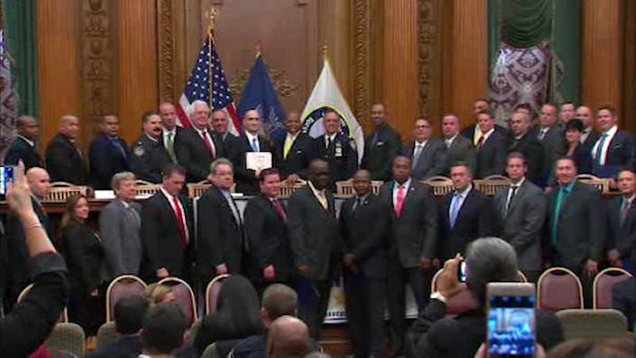 Dozens of detectives honored for their work solving cases in Brooklyn