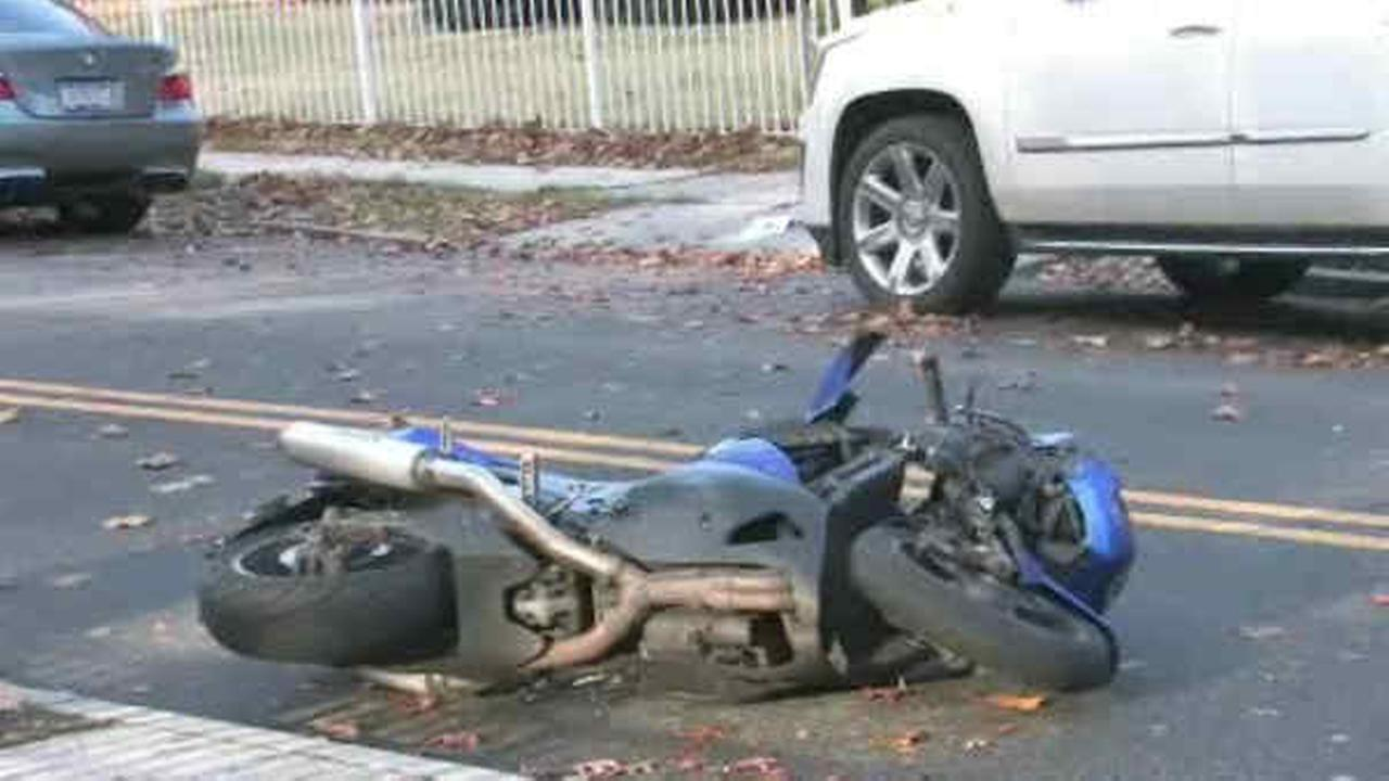77-year-old woman struck by motorcyclist in Queens; Suspect fled on foot