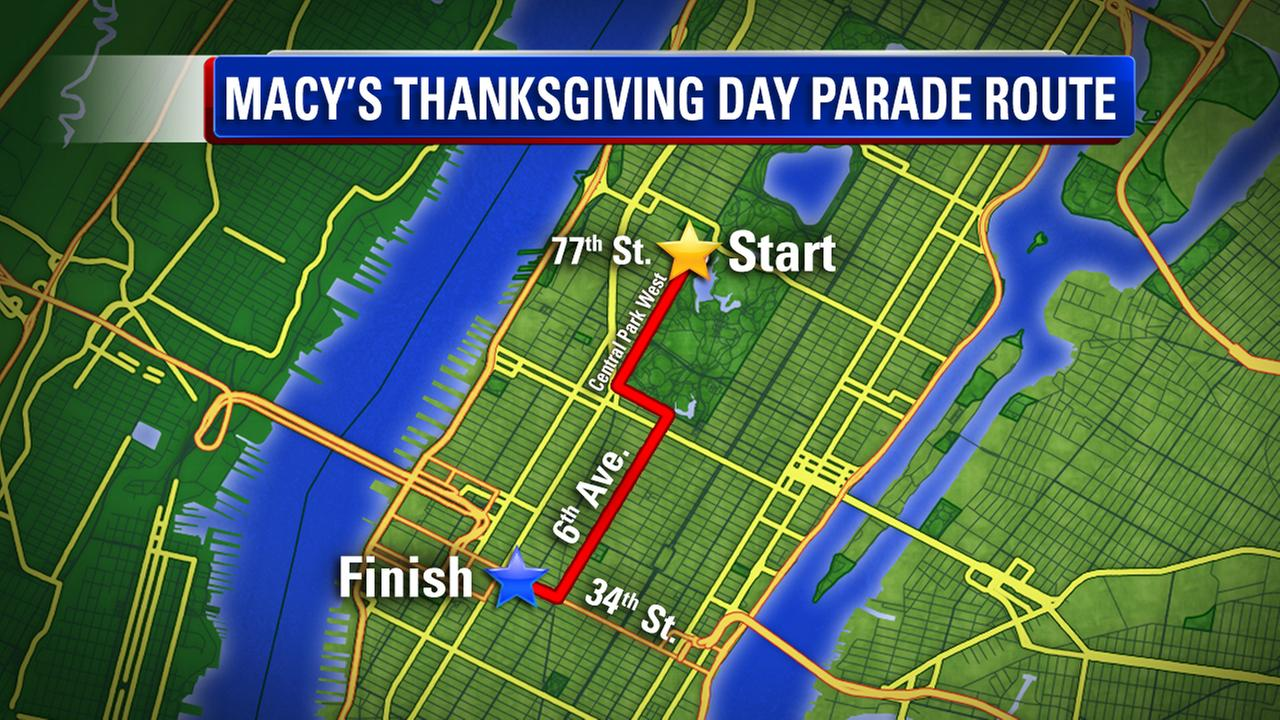 List of street closures due to Macy's Thanksgiving Day Parade