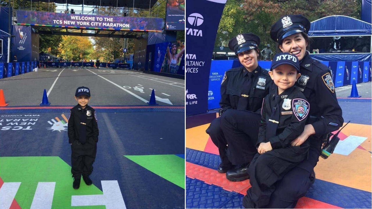WABC-TV employee running NYC Marathon for honorary officer who passed away from cancer