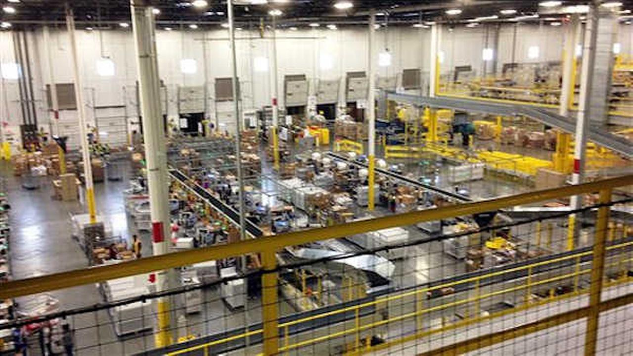 FILE: One of Amazons newest distribution centers in Tracy, Calif., is seen in 2014. (AP Photo/Brandon Bailey)