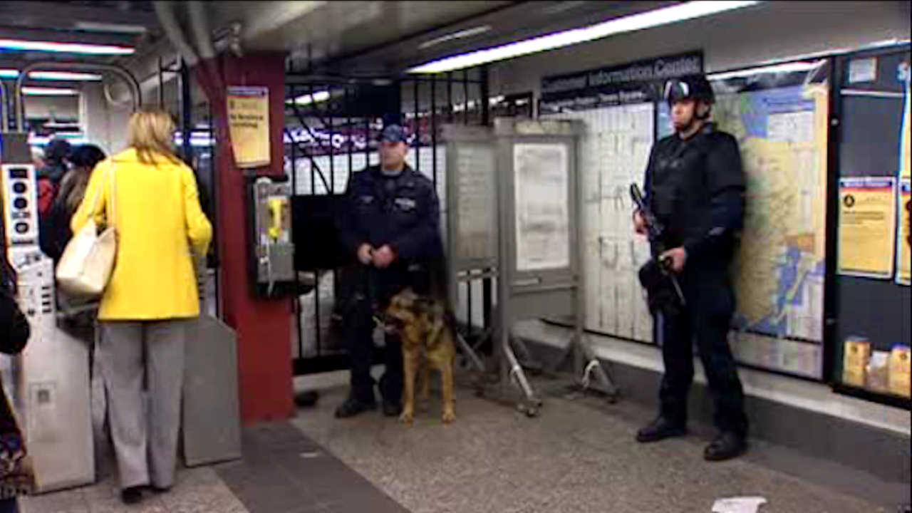 Security boosted on NYC mass transit during the holidays under executive order