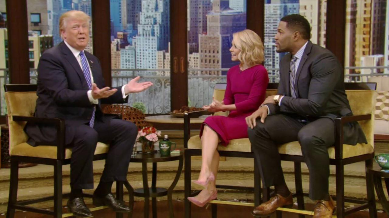 Trump appears on 'LIVE with Kelly and Michael'