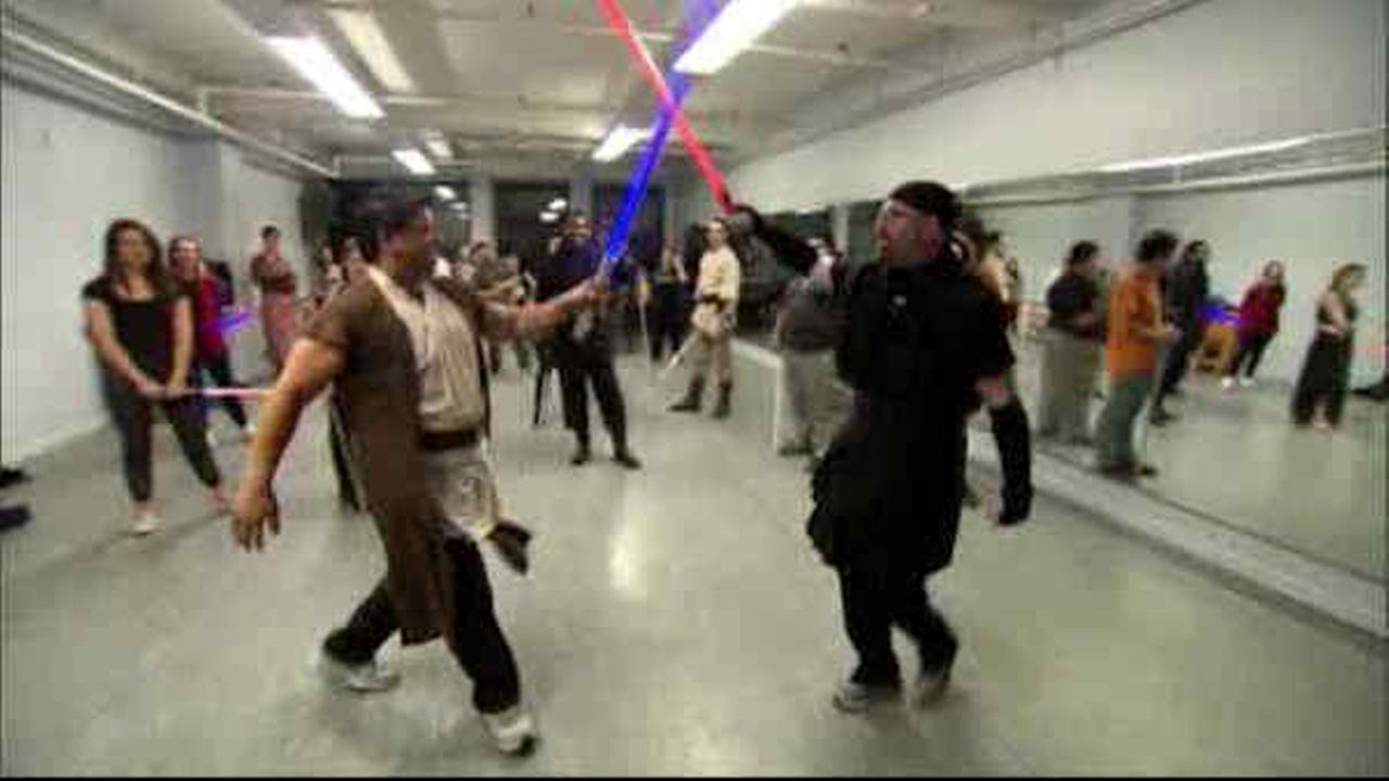 Lightsaber Fitness Class helps Star Wars fans get in shape