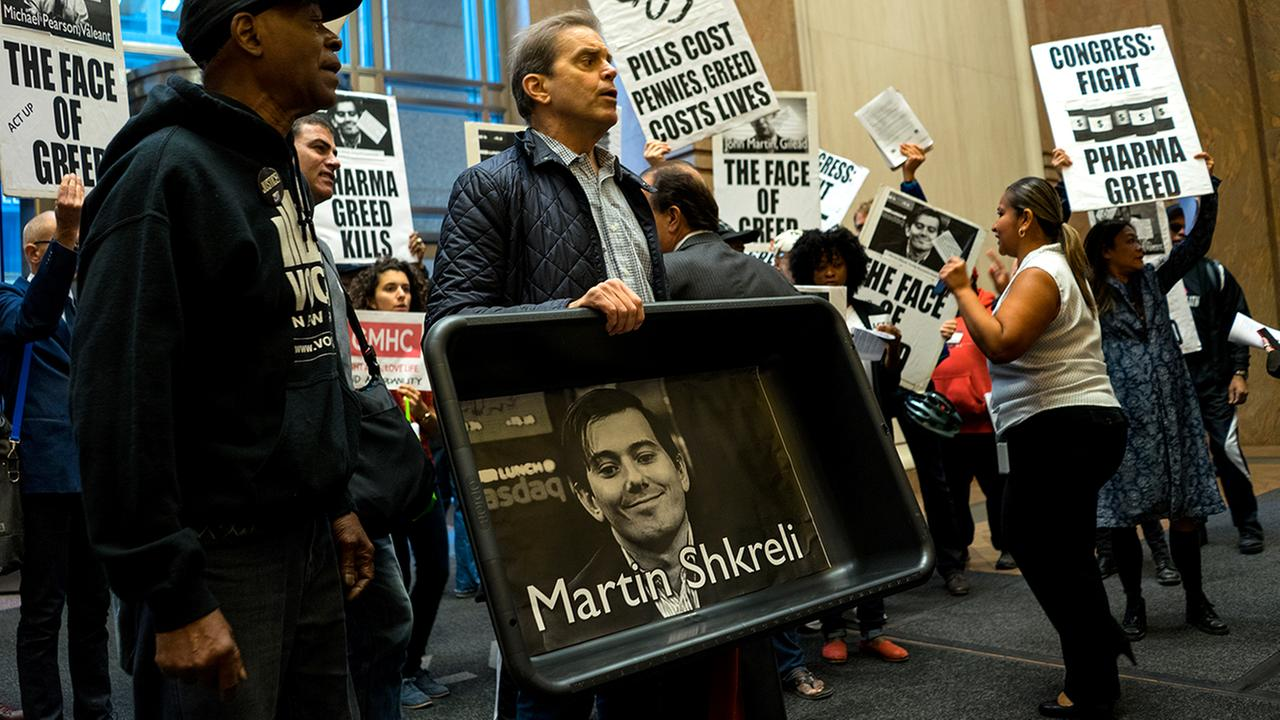 martin shkreli protest new york city