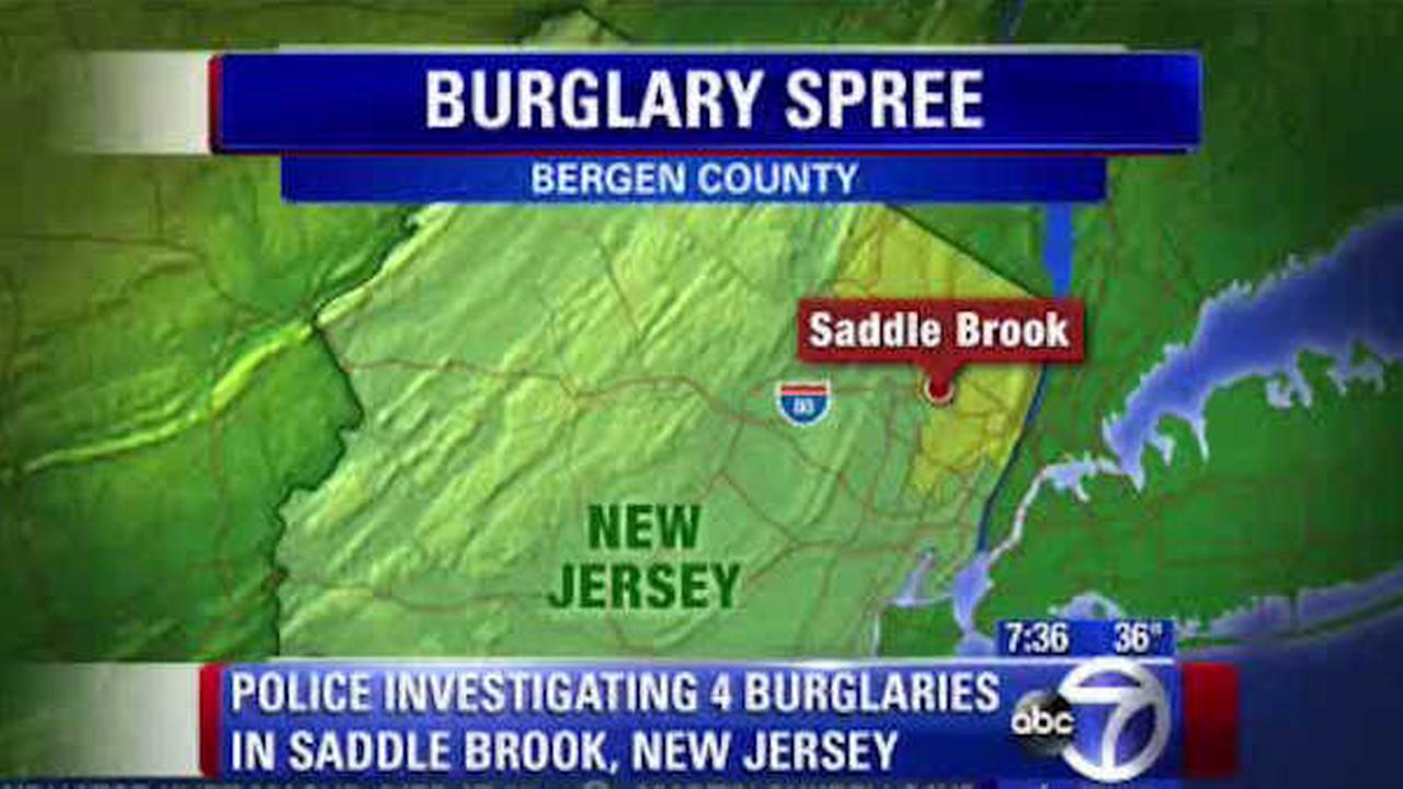 Warning issued to New Jersey homeowners after spree of burglaries