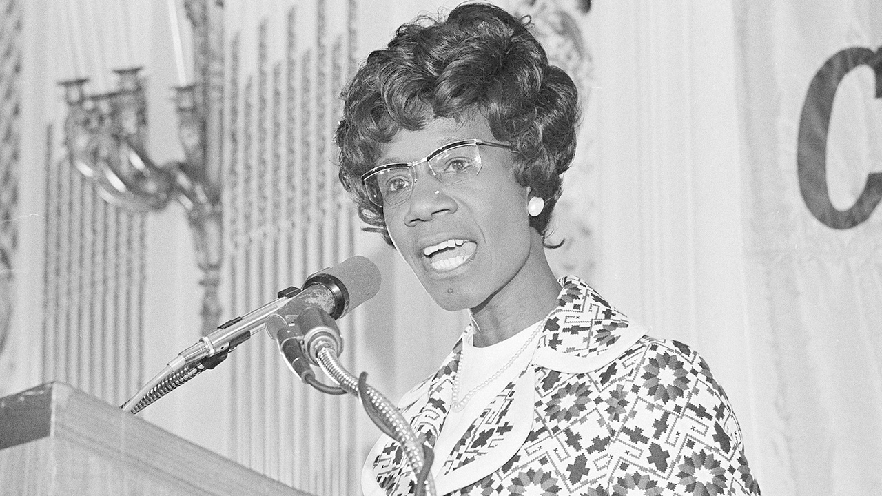 In this May 16, 1972, file photo, Rep. Shirley Chisholm, D-NY, talks during a speech in San Francisco while campaigning for the U.S. Presidency.