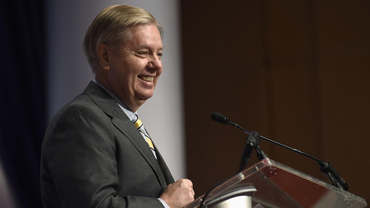 Republican presidential candidate Sen. Lindsey Graham, R-S.C., speaks at the Republican Jewish Coalition Presidential Forum in Washington, Thursday, Dec. 3, 2015.