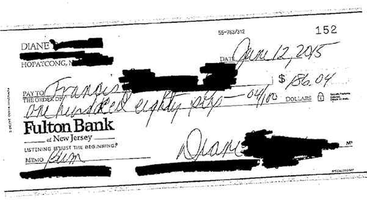 New Jersey man sues ex-wife over insults on memo line of alimony checks