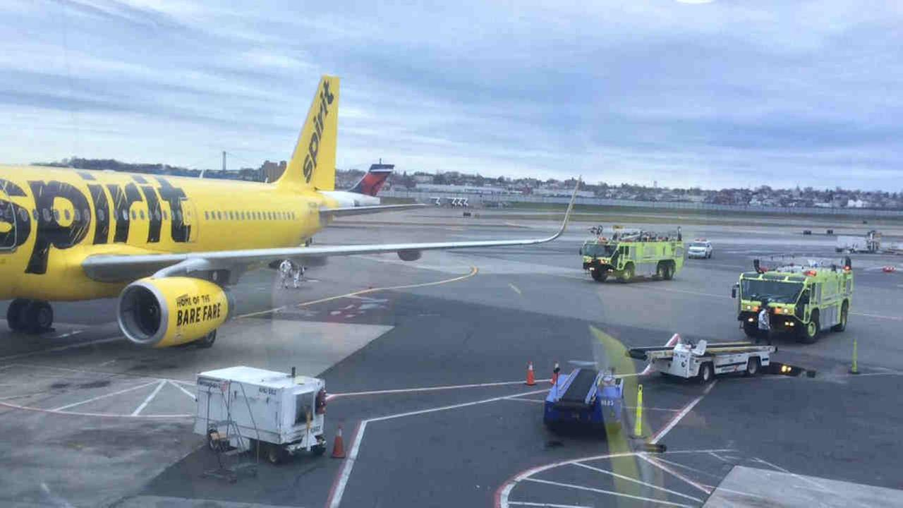 Spirit Airlines flight evacuated at NY's LaGuardia airport because of smoke