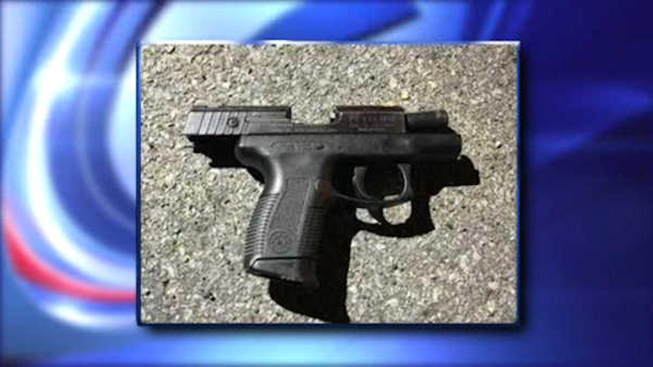 A handgun was found at the scene after police say a teenager opened fire in Brooklyn.
