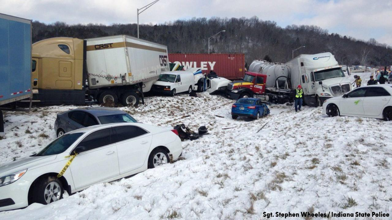 40 vehicles involved in massive pile-up crash on I-74 near Indiana-Ohio state line