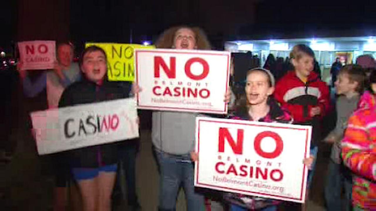 Rally held against casino proposed for Belmont Park