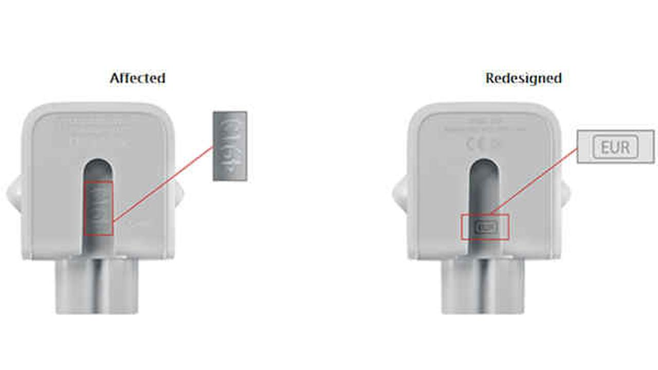 Apple recalls power adapters sold outside United States