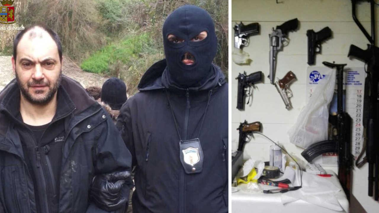 Fugitive mobsters found in Italy bunker with guns, pasta pot