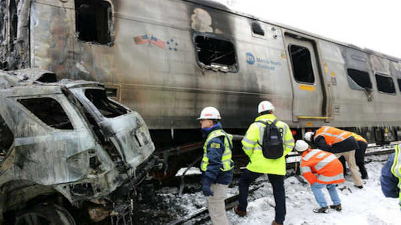 NTSB photo of train involved in Metro-North crash (Photo/NTSB)