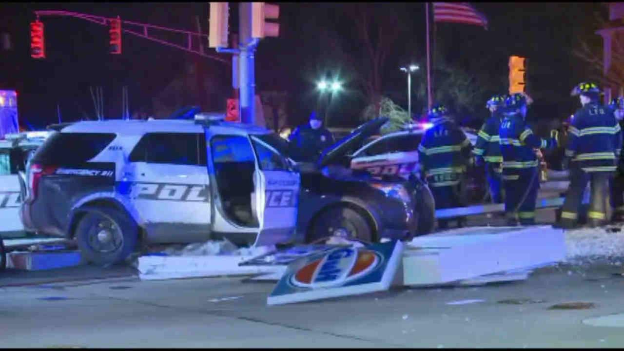2 Millburn police cruisers collide while trying to pull someone over in Livingston