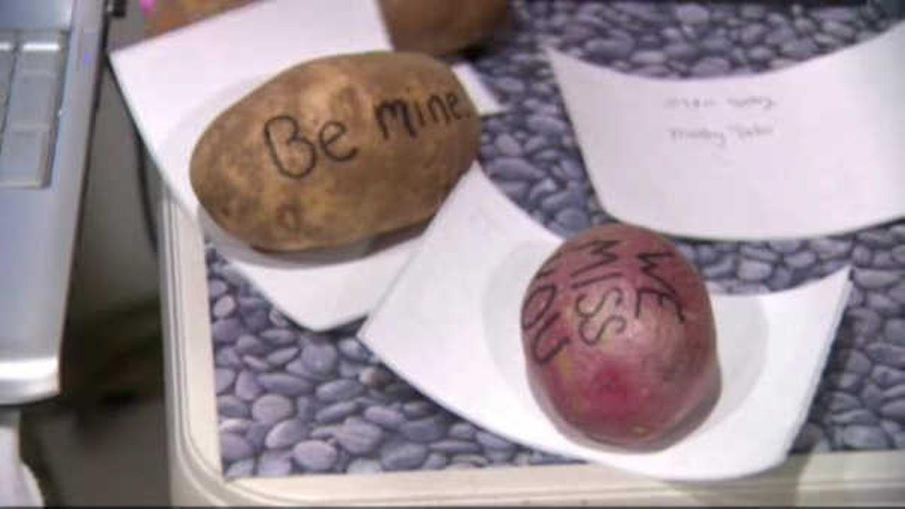 'Mystery Potato' company sends spuds with messages