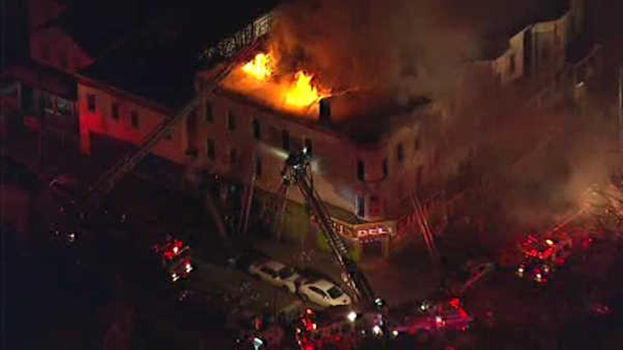 3-alarm fire burns through apartment building in Unionport section of the Bronx